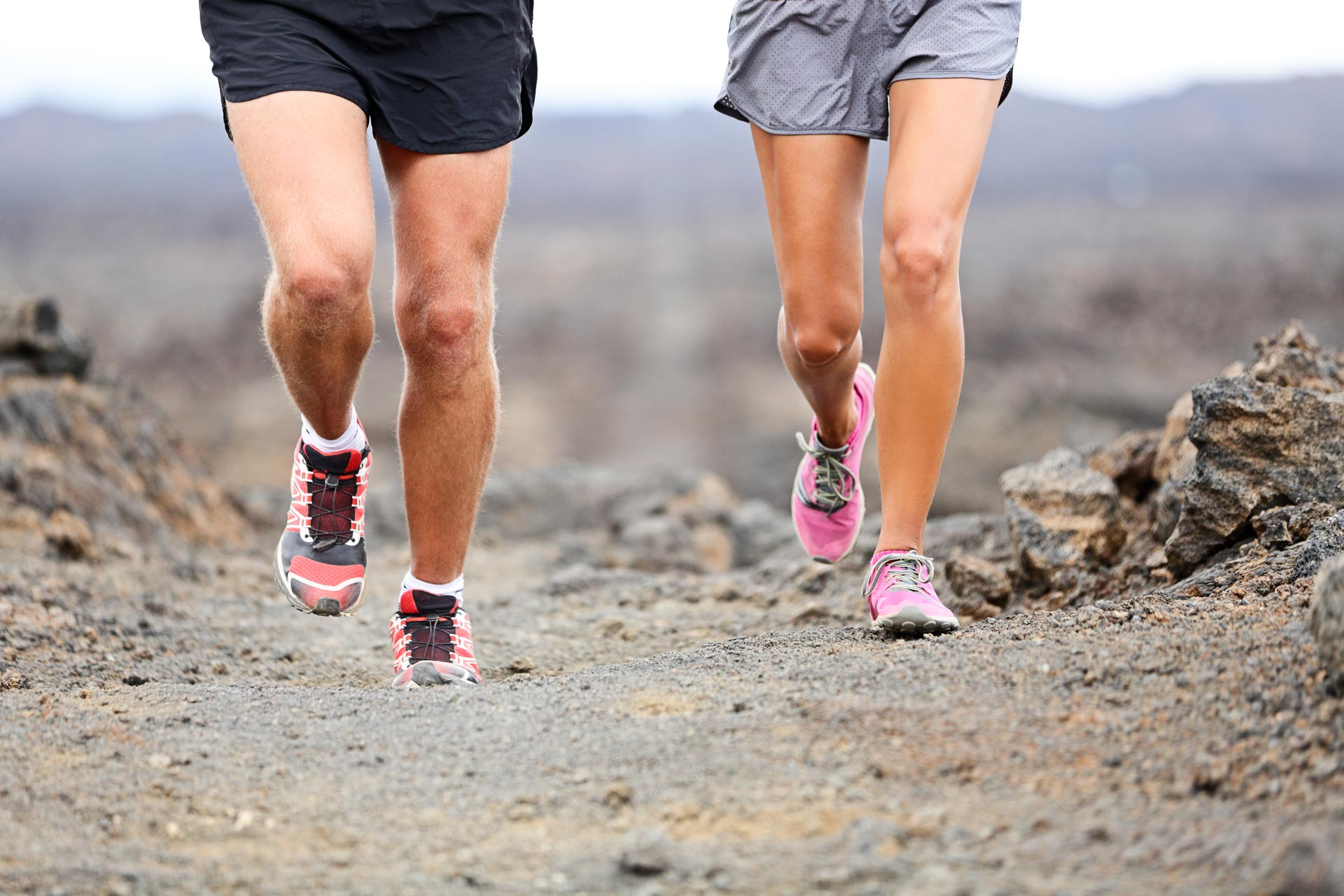 Menschen joggen in der Natur